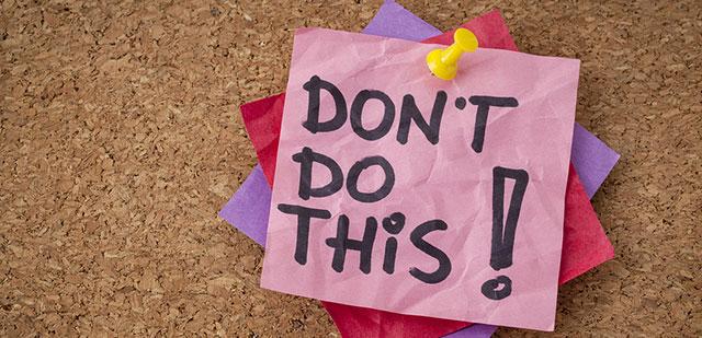 Cele mai importante 10 lucruri de evitat pentru o viata sanatoasa